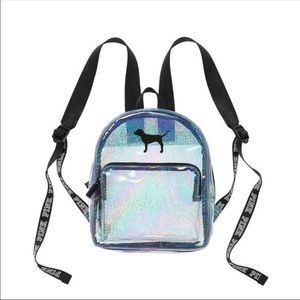 Clear Holographic Victoria's Secret Backpack💕